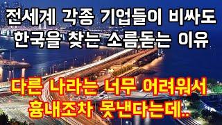 전세계 각종 기업들이 비싸도 무조건 한국을 찾는 소름돋는 이유