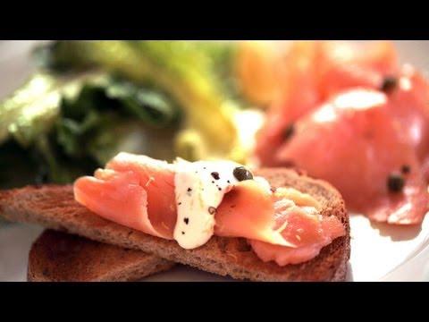 Smoked Salmon On Toast Points Recipe || KIN EATS