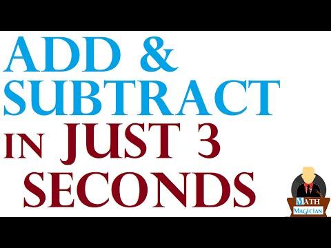 Addition & Subtraction Tricks