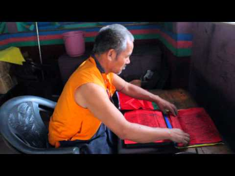 How do they make Prayer flags in Ladakh, Himalayas