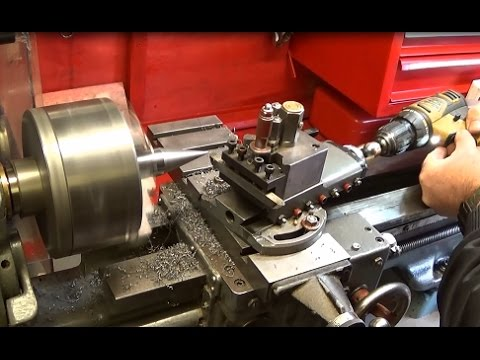Making & Using A Simple Power Feed Adaptor For Compound Turning
