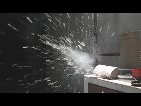 Pyrotechnic Bullet impact on wood - Squib - Test 1