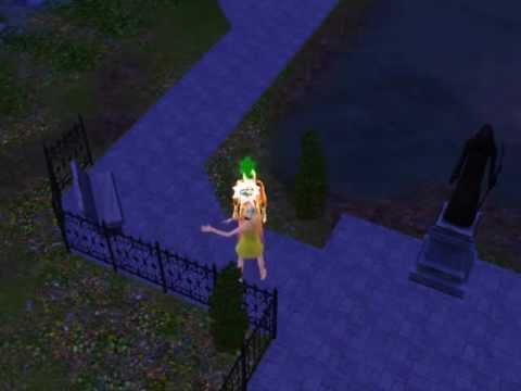 Sims 3 Ghost sighting in graveyard!