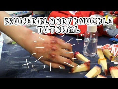 Bruised Knuckles/Matt Murdock Cosplay Makeup Tutorial (Part1)