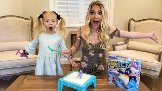 DON'T BREAK THE ICE CHALLENGE BOARD GAME VS MY PARENTS!!