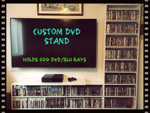 CUSTOM DVD / BLU RAY UNIT HOLDS 500 DVD'S FOR UNDER $70