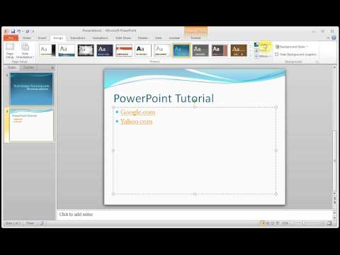 Microsoft PowerPoint How to Change The Color of Hyperlink Text