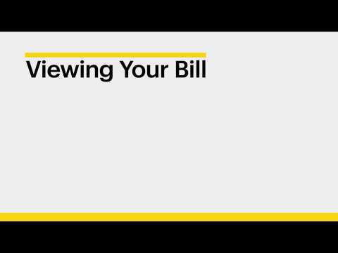 How to view your bill