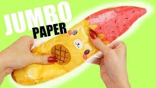 Download JUMBO PAPER SQUISHY BANANA YUMMIIBEAR | How to make a squishy without foam Video