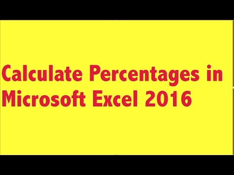 How to calculate percentages in excel 2016