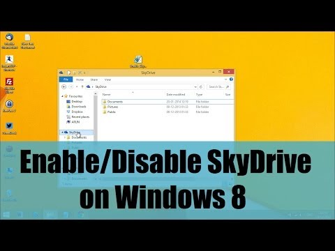 Enable or Disable SkyDrive/OneDrive on Windows 8 O.S