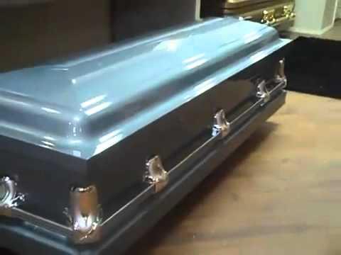 Powder Blue  20 gauge steel casket