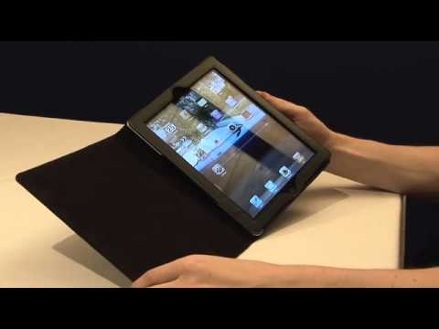 TeckNet iPad 2 Folio Leather Case Cover and Flip Stand, With Magnetic Sleep Wake Sensor Feature