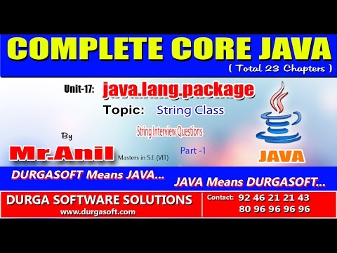 Core Java -  java.lang.package - String Interview Questions Part -1