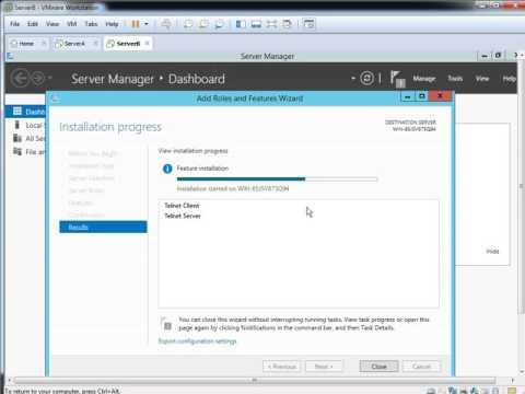 Telnet Server IPv4 Server 2012 R2
