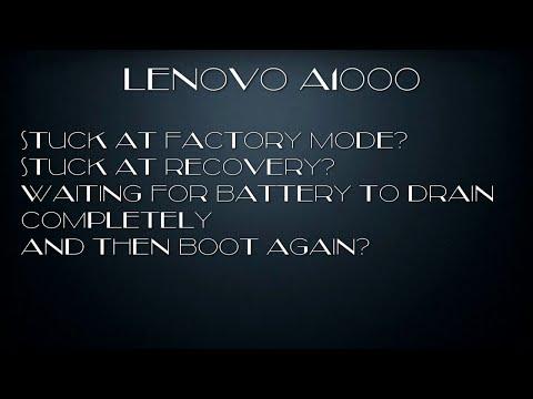 Lenovo A1000 Soft Reset