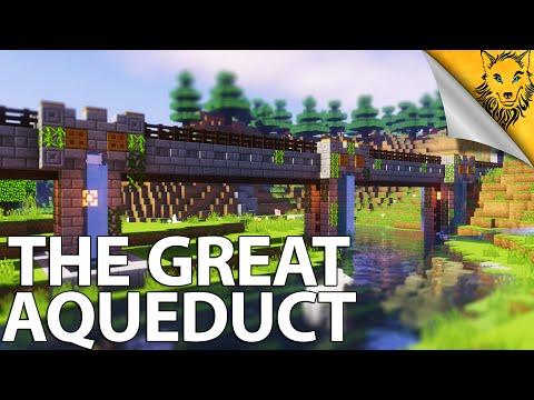 Minecraft Timelapse: The Great Aqueduct [Item Transportation System]