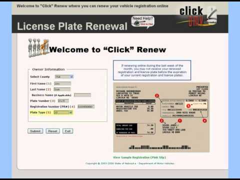 How to Renew Your Nebraska License Plates Online