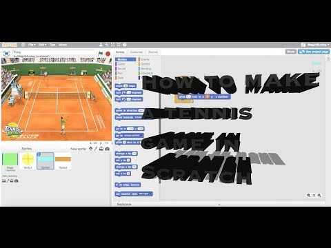 How to make a Tennis game in Scratch(Pong)