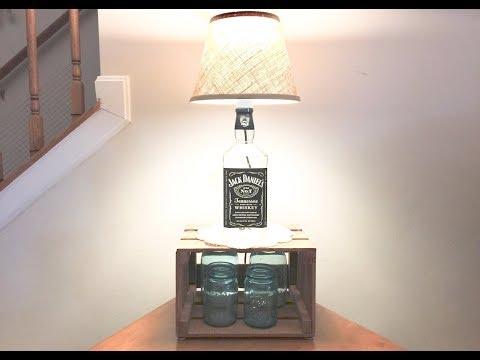 Whiskey Bottle Lamp