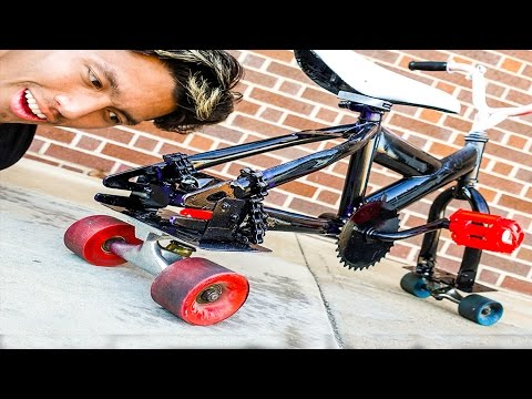 BICYCLE WITH SKATEBOARD WHEELS?!