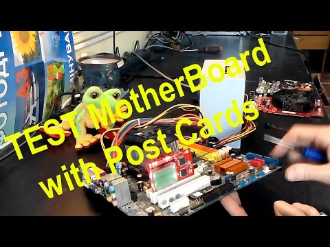 Diagnosis the motherboard via Post Cards - How to use a PCI post card on PC