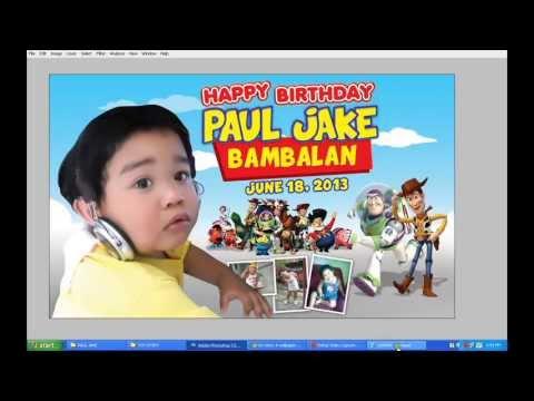 adobe photoshop CS3 Birthday tutorial