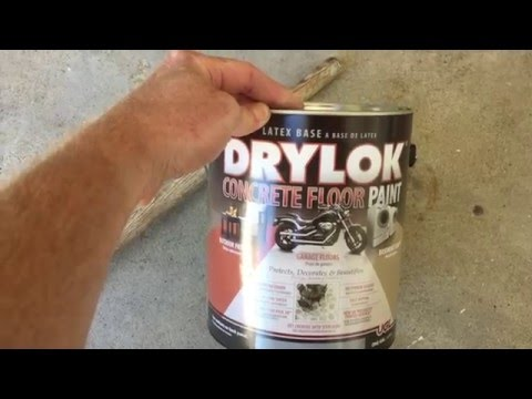 Drylok Concrete Floor Paint Review and How To. How to paint a garage floor.