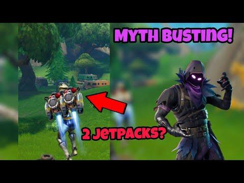 CAN YOU USE 2 JETPACKS IN FORTNITE!?! - FORTNITE BATTLE ROYALE MYTH BUSTING