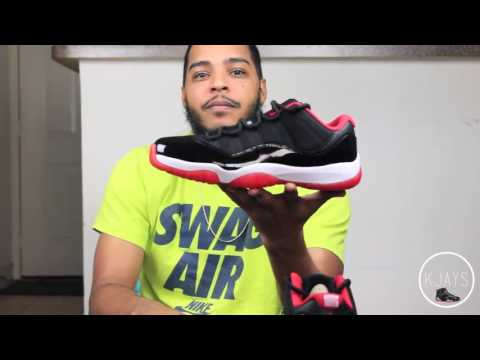 Nike Clearance Jordan Retro 11 Low BRED for Sale www.CheapleBron13.cc
