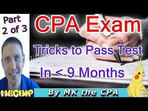 How to Pass The 2017 CPA Exam Quickly While Working  (How to  Study For CPA Exam) (Part 2 of 3)