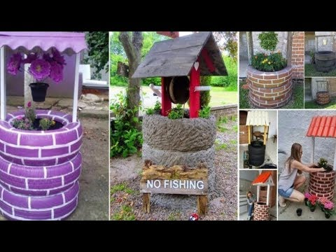 10+ Amazing Recycled Tires Wishing Well ideas 2017
