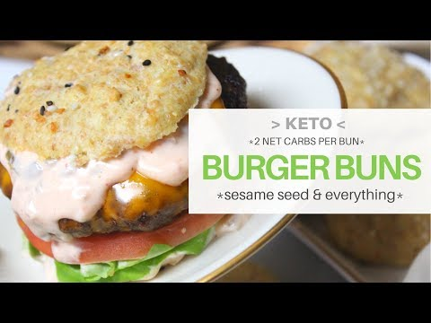*2 NET CARBS* Burger Bun (KETO)   SUPER BOWL APPROVED   Sesame & Everything  #lowcarb #ketogenicdiet
