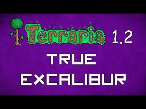 True Excalibur - Terraria 1.2 Guide New Melee Weapon! - GullofDoom - Guide/Tutorial