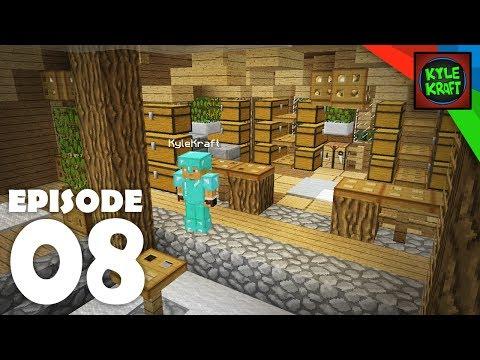 RUSTIC STORAGE HOUSE INTERIOR | Ep. 08 Survival Minecraft