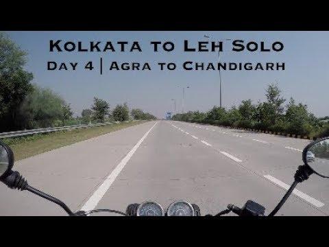 Kolkata to Leh Solo Bike Trip | Day 4 | Agra to Chandigarh | Drone Shots