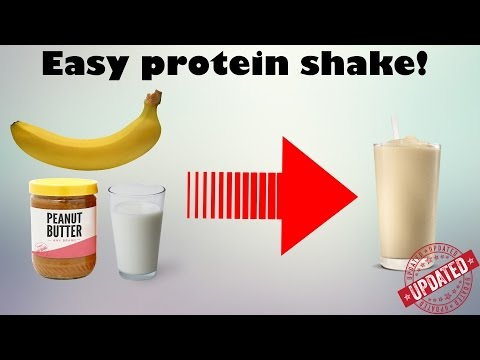 Make a protein shake without protein powder!? (Simple) Mass gainer [Updated]