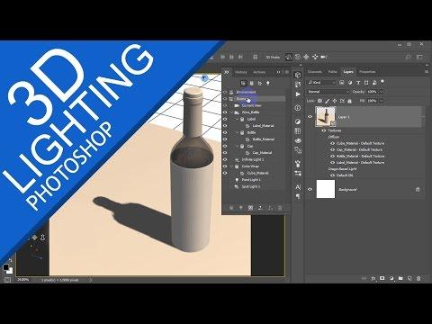 PHOTOSHOP 3D LIGHTING   Beginner TUTORIAL Part-3