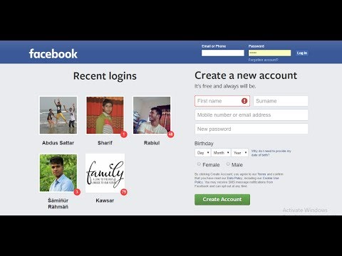 Web programming 3: Web page Layout part1(Facebook home page design)