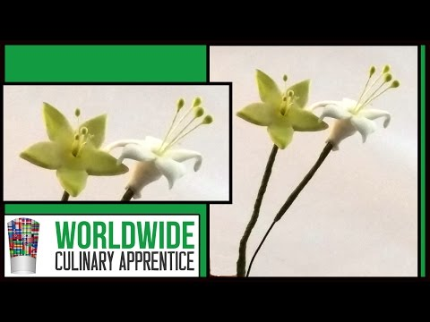How to make Sugar Paste Filler Flowers-Wedding Cake Decoration-Online Pastry Class