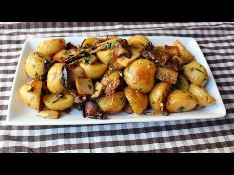Roasted Wild Mushroom & Potato Salad - Fall Mushroom & Potato Side Dish Recipe