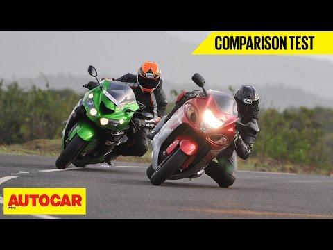 Suzuki Hayabusa VS Kawasaki Ninja ZX-14R | Comparison Test | Autocar India