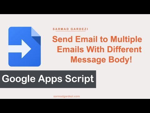 Send Email to Recipients Using Google Spreadsheet