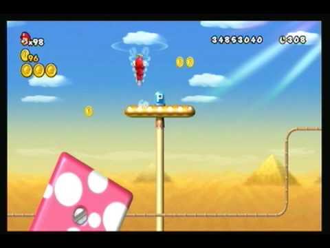 New Super Mario Bros.Wii - World 2 Secret Cannon Exit