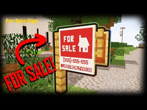 Minecraft - How To Make A For Sale Sign | Custom Map