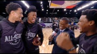 Jimmy Butler, DeMar DeRozan, Kyle Lowry Interview / Feb 17 / 2018 NBA All Star Practice