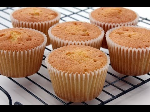 Queen Cakes or Fairy Cakes/Fluffy Moist Cupcakes/Perfect Cupcakes (RUBY KITCHEN)
