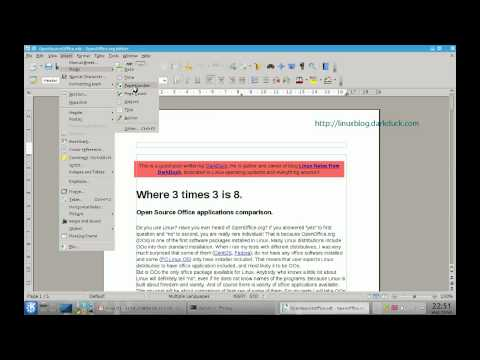 How to Add Page Numbers in LibreOffice and OpenOffice.Org Writer
