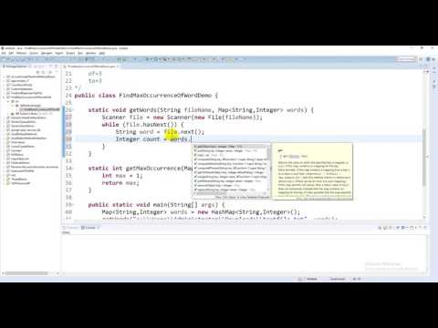Find Maximum Occurrence of Words from Text File in Java