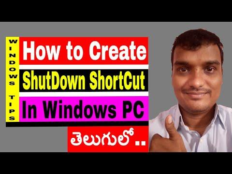 make a shortcut icon to shutdown the pc on windows 7 or later | shutdown button on windows desktop